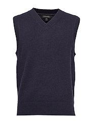 V-Neck Sweater Vest - PREPPY NAVY