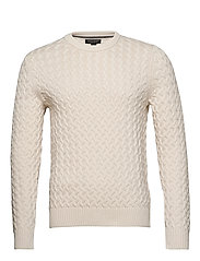 SUPIMA® Cotton Cable-Knit Sweater - TRANSITION CREAM