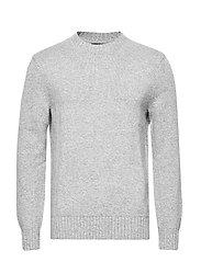 High Crew-Neck Sweater - MED GREY HEATHER