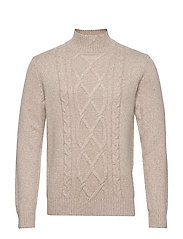 Wool-Blend Mock-Neck Sweater - STONE