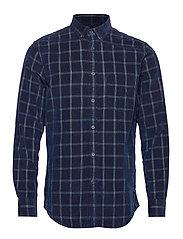 Slim-Fit Corduroy Shirt - BLUE INDIGO