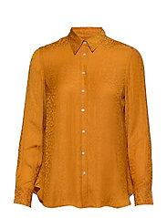 Dillon Classic-Fit Leopard Shirt - MUSTARD 515
