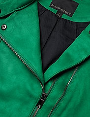 Banana Republic - Vegan Suede Biker Jacket - leather jackets - bright green - 4