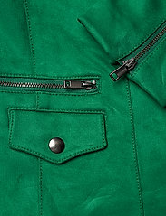 Banana Republic - Vegan Suede Biker Jacket - leather jackets - bright green - 5