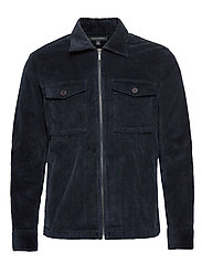 Slim Corduroy Shirt Jacket - NAVY