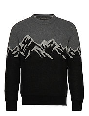 Mountain Graphic Sweater - BLACK
