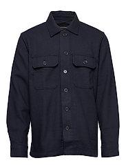 Slim Double-Weave Shirt Jacket - NAVY