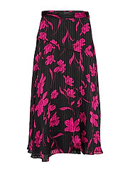 Floral Asymmetrical Skirt - PINK FLORAL