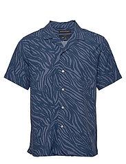 Slim Soft Camp Shirt - NAVY