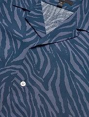 Banana Republic - Slim Soft Camp Shirt - lyhythihaiset paidat - navy - 2