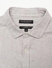 Banana Republic - Untucked Slim-Fit Linen-Cotton Shirt - casual shirts - brown mini stripe - 2