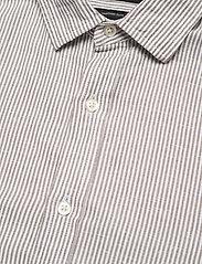 Banana Republic - Untucked Slim-Fit Linen-Cotton Shirt - casual shirts - brown mini stripe - 3