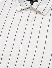 Banana Republic - Untucked Slim-Fit Linen-Cotton Shirt - casual shirts - wide stripe - 3