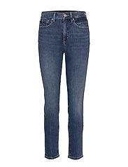 High-Rise Slim Ankle Jean - MEDIUM WASH