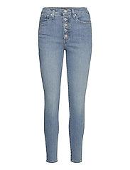 High-Rise Skinny Button-Fly Jean - MEDIUM WASH