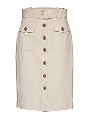 Heritage Cotton-Linen Safari Skirt - TRANSITION CREAM