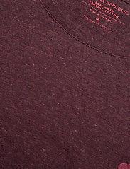 Banana Republic - I LOGO SOFTWASH ORGANIC TEE - basic t-shirts - maroon htr hb414 - 2