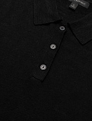 Banana Republic - Linen-Blend Sweater Polo - strikkede toppe - black - 2