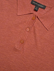 Banana Republic - Linen-Blend Sweater Polo - knitted tops - copper clay - 2