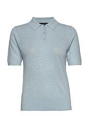 Linen-Blend Sweater Polo - LIGHT BLUE