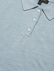 Banana Republic - Linen-Blend Sweater Polo - knitted tops - light blue - 2