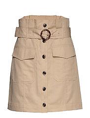 Paperbag Utility Skirt - ECRU