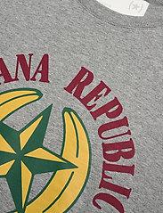 Banana Republic - I GRAPHIC TEE - BR LOGO I - short-sleeved t-shirts - heather grey - 2