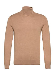 Italian Merino Turtleneck Sweater - CLASSICCARAMEL