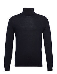 Italian Merino Turtleneck Sweater - NAVY