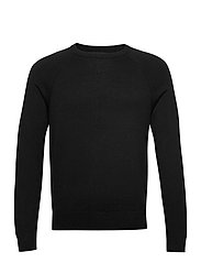 Italian Merino Crew-Neck Sweater - BLACK
