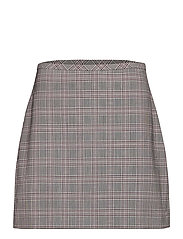 Washable Wool-Blend Mini Skirt - PINK PLAID
