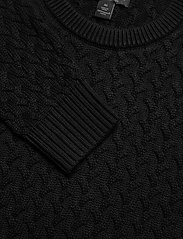 Banana Republic - SUPIMA® Cable-Knit Sweater - basic knitwear - black - 2