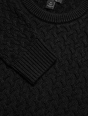 Banana Republic - SUPIMA® Cable-Knit Sweater - basic knitwear - black - 2