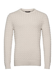 SUPIMA® Cable-Knit Sweater - TRANSITION CREAM