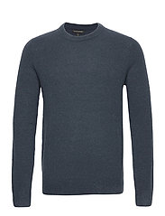 Wool-Blend Crew-Neck Sweater - BLUE SLATE