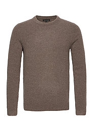 Wool-Blend Crew-Neck Sweater - SOFT TAUPE
