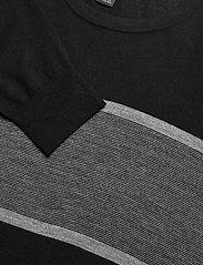 Banana Republic - Merino Stripe Sweater in Responsible Wool - knitted round necks - black - 2
