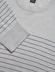 Banana Republic - Merino Stripe Sweater in Responsible Wool - knitted round necks - light grey - 2
