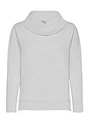 Baby Terry Funnel-Neck Top - HEATHER GREY