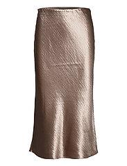 Bias-Cut Midi Slip Skirt - BARE