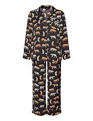 Satin Pajama Set - TRAVEL ANIMAL FLRL TT