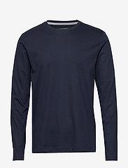 Banana Republic - Luxury-Touch Crew-Neck T-Shirt - basic t-shirts - preppy navy - 0