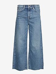 Banana Republic - High-Rise Wide-Leg Cropped Jean - broeken met wijde pijpen - medium blue vintage - 0
