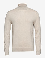 Banana Republic - Italian Merino Turtleneck Sweater - perusneuleet - light oatmeal heather - 0