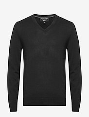 Banana Republic - Italian Merino V-Neck Sweater - perusneuleet - black - 0
