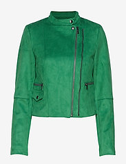 Banana Republic - Vegan Suede Biker Jacket - leather jackets - bright green - 1
