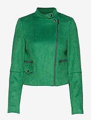 Banana Republic - Vegan Suede Biker Jacket - leather jackets - bright green - 2