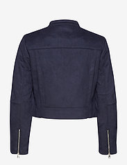 Banana Republic - Vegan Suede Biker Jacket - leather jackets - navy - 3