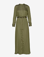 Banana Republic - I LS TRENCH MAXI DRESS - shirt dresses - jungle olive - 0
