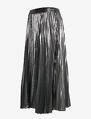 Banana Republic - Metallic Pleated Midi Skirt - midi skirts - dark charcoal - 2